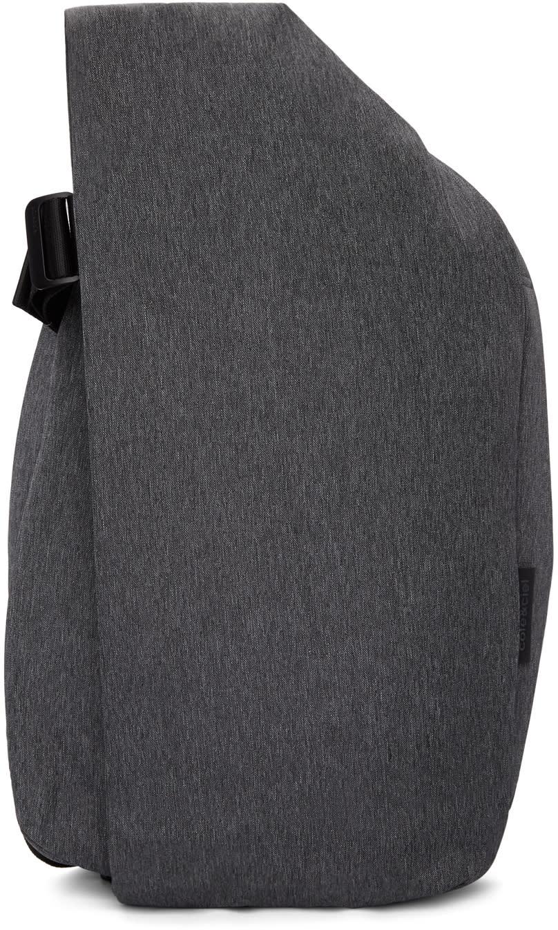 Image of Côte and Ciel Black Mélange Medium Isar Eco Yarn Backpack