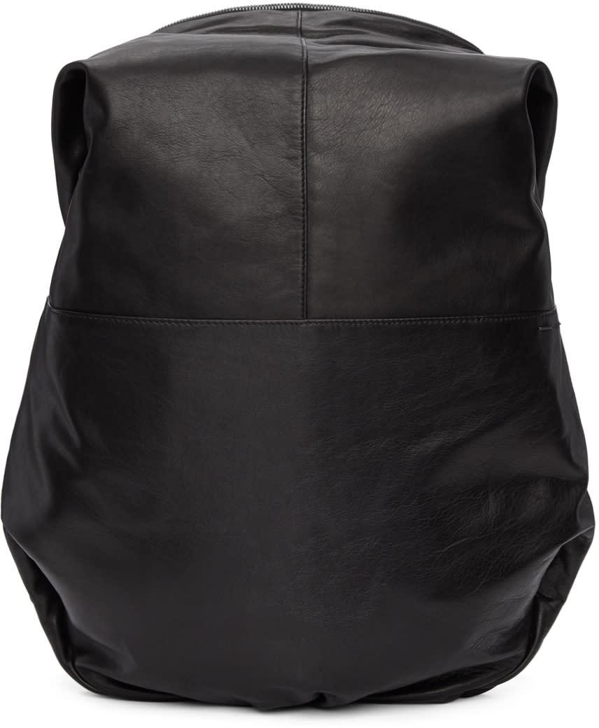 Image of Côte and Ciel Black Leather Nile Backpack