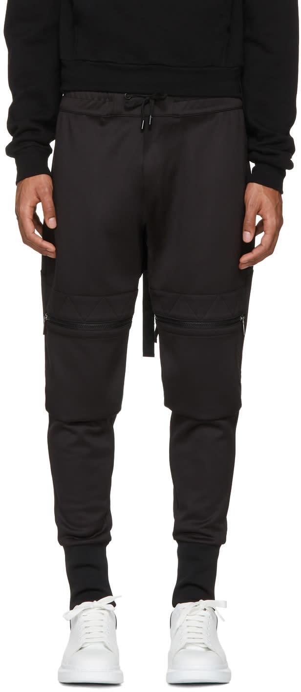 Image of Pyer Moss Black Hook Cargo Lounge Pants