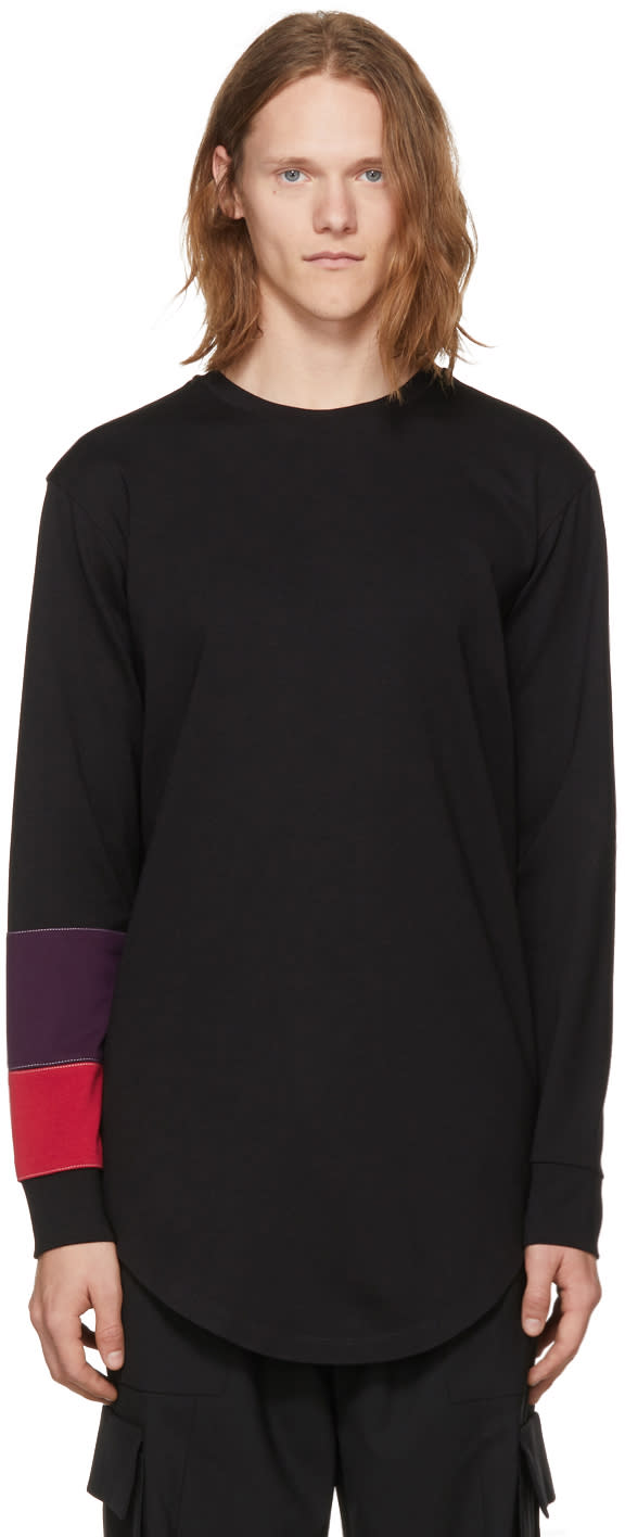 Image of Pyer Moss Black Long Sleeve System Band T-shirt