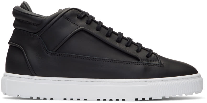 Image of Etq Amsterdam Black Mid 2 Sneakers