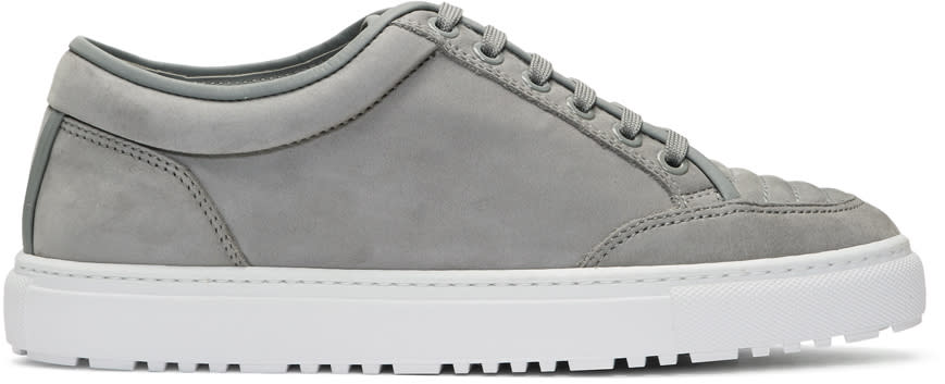 Image of Etq Amsterdam Grey Suede Low 2 Sneakers