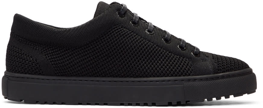 Image of Etq Amsterdam Black Knitted Low 1 Sneakers