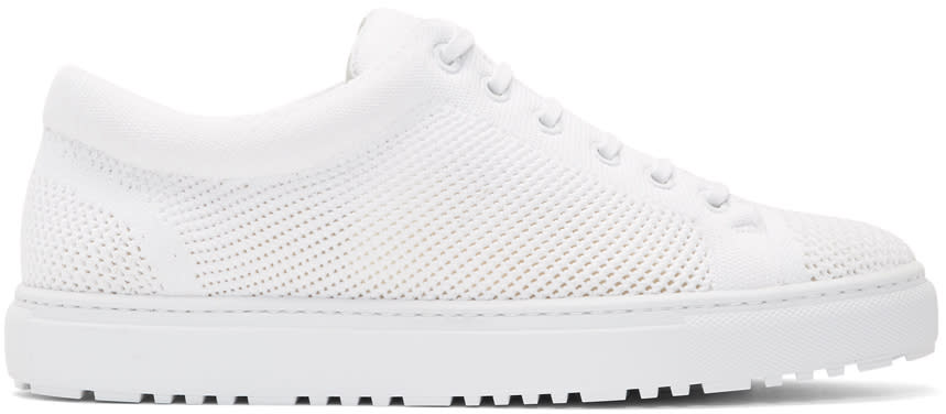 Image of Etq Amsterdam White Knitted Low 1 Sneakers