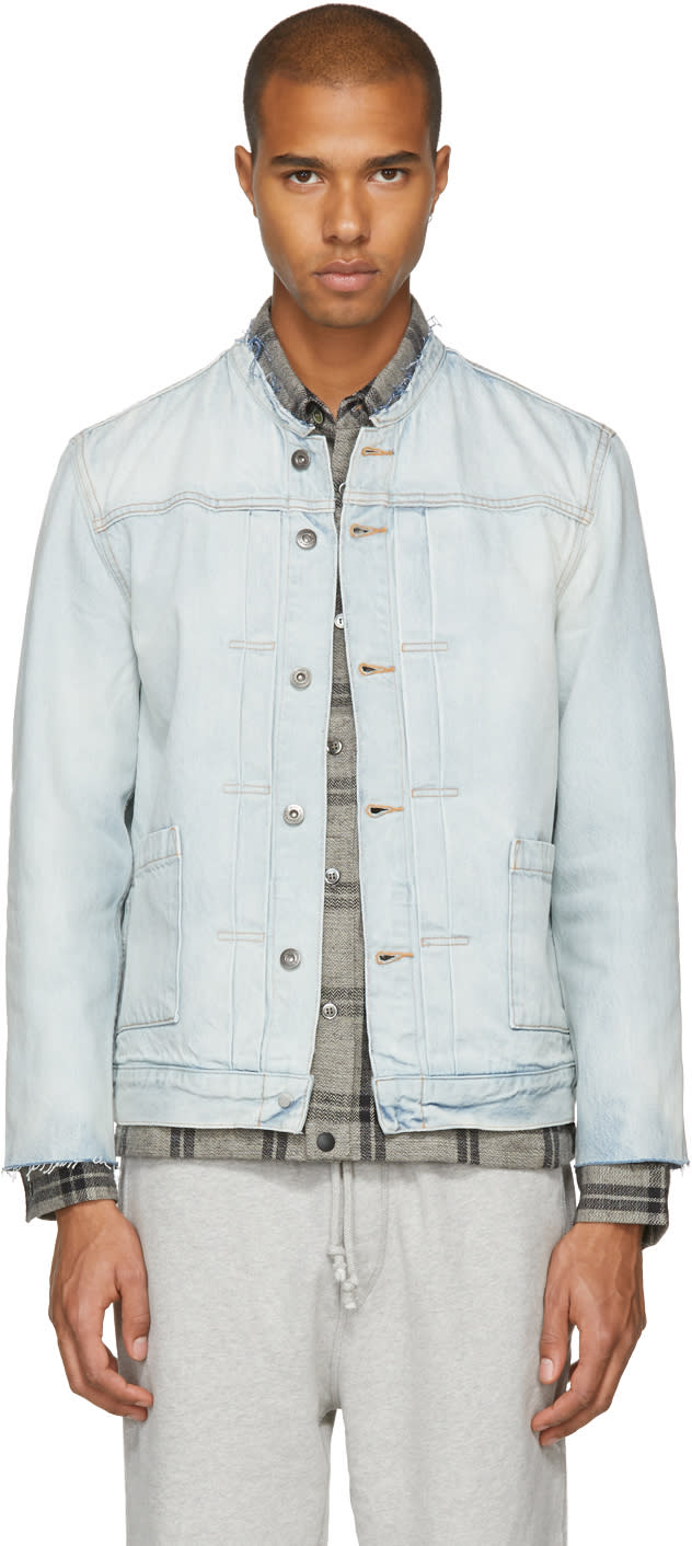 Image of Levis Made and Crafted Blue Denim Type Ii Cut-off Trucker Jacket