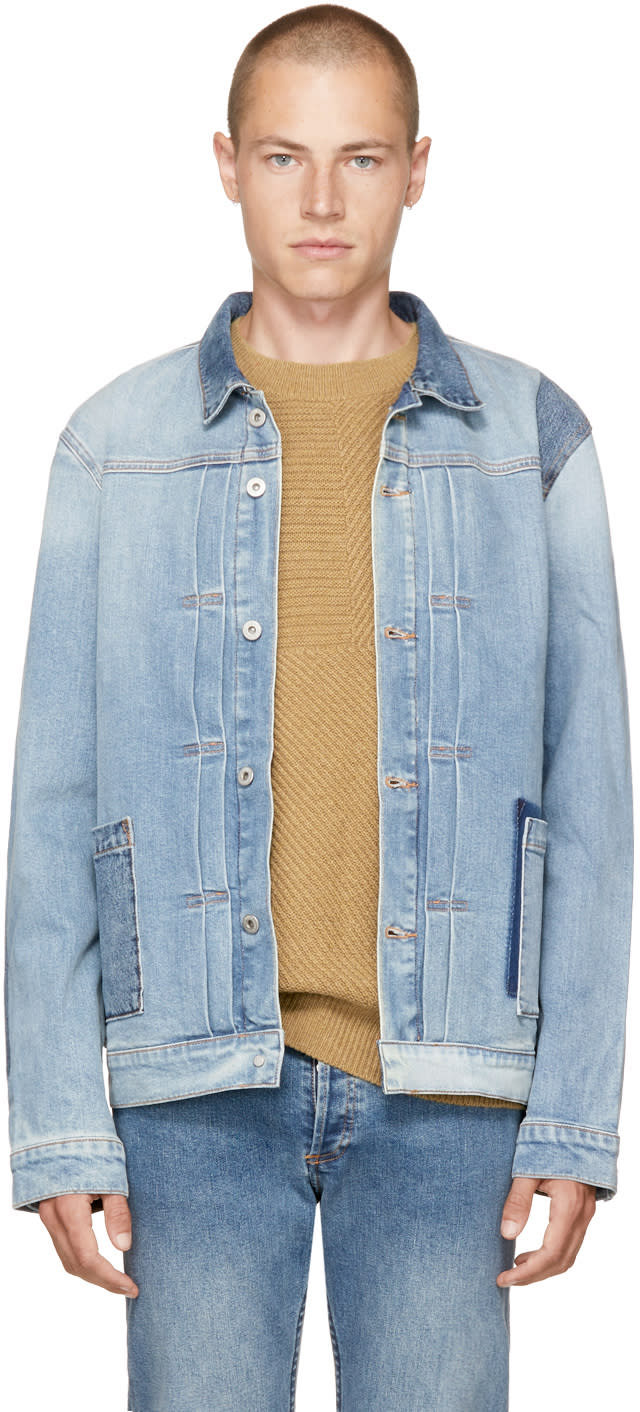 Image of Levis Made and Crafted Blue Denim Type Ii Worn Trucker Jacket
