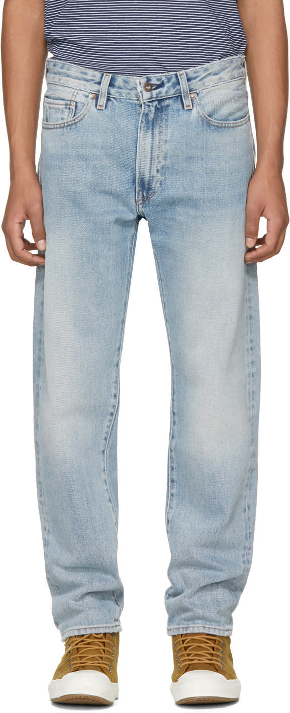 Image of Levis Made and Crafted Blue Rail Straight Jeans