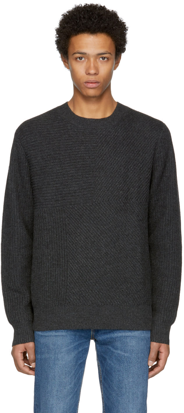 Image of Levis Made and Crafted Black Pieced Sweater