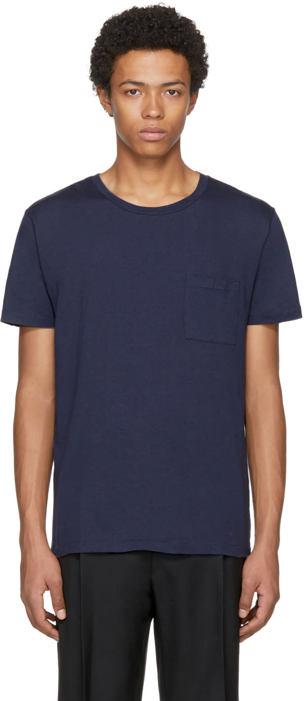 Image of Levis Made and Crafted Navy Pocket T-shirt