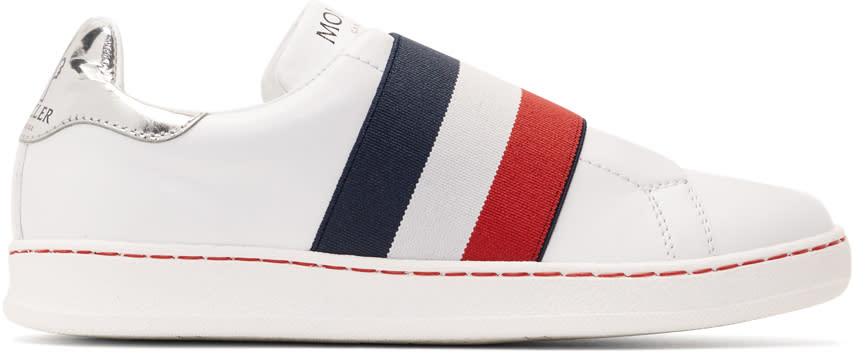 Image of Moncler Gamme Rouge White Willis Laceless Sneakers