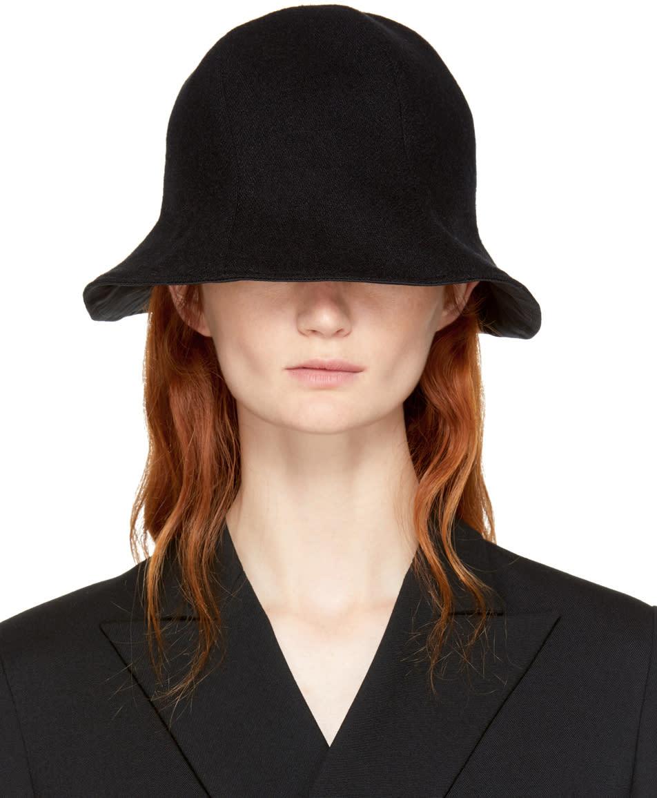 Image of Yohji Yamamoto Black Floppy Hat