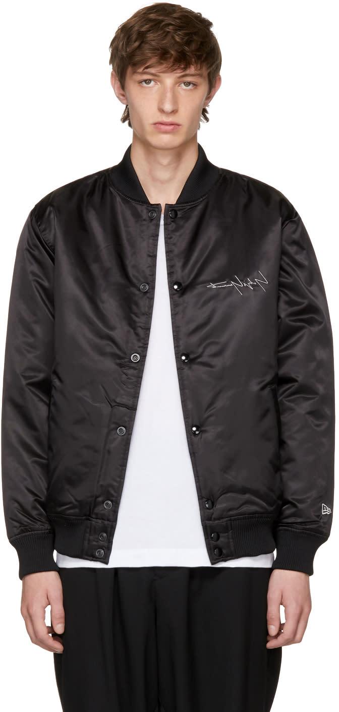 Image of Yohji Yamamoto Black New Era Edition Bomber Jacket