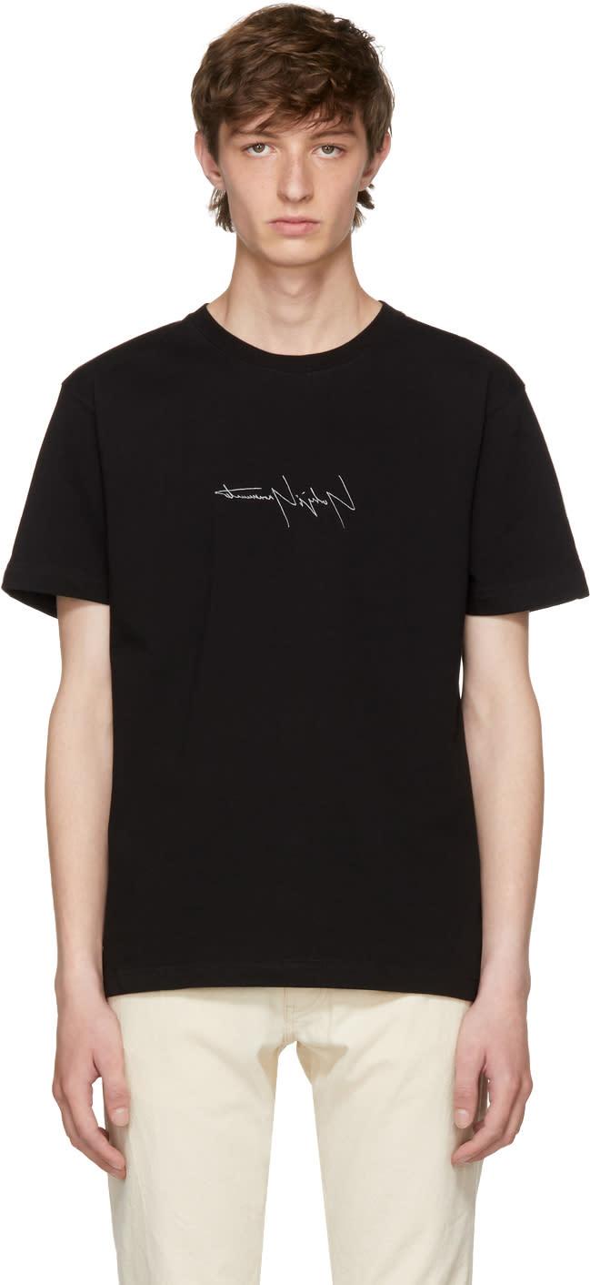 Image of Yohji Yamamoto Black New Era Edition Logo T-shirt