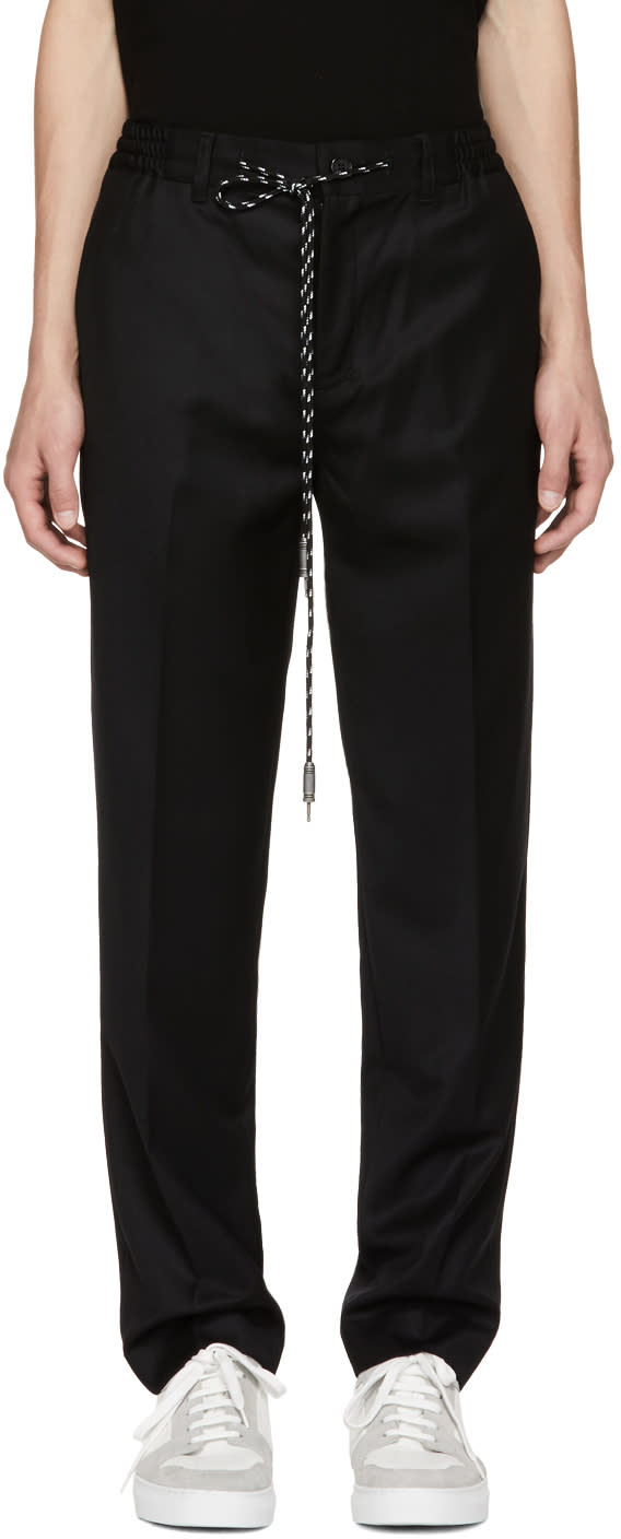 Image of Christian Dada Black Signature Easy Trousers