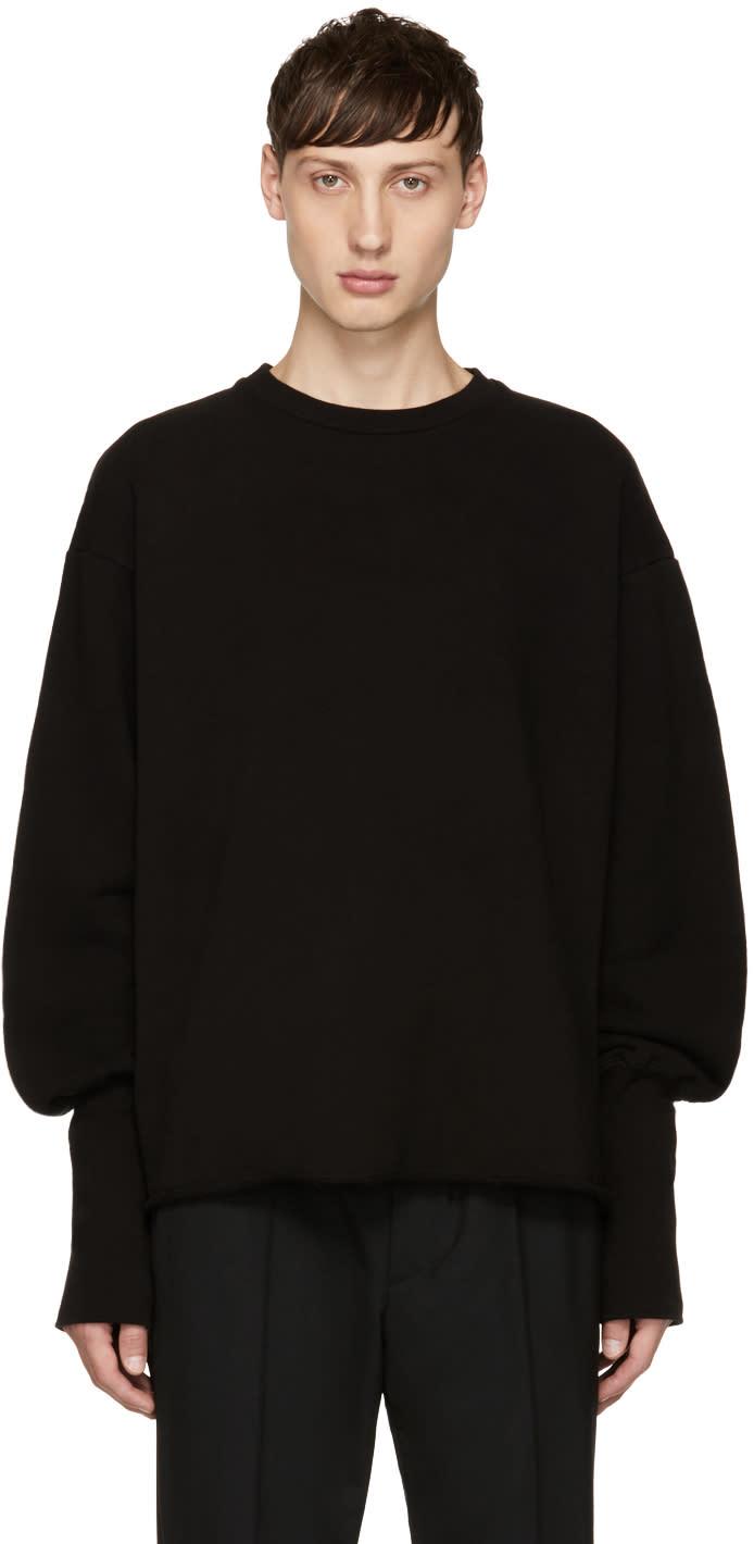 Image of Christian Dada Black Oversized Bomber Sweatshirt