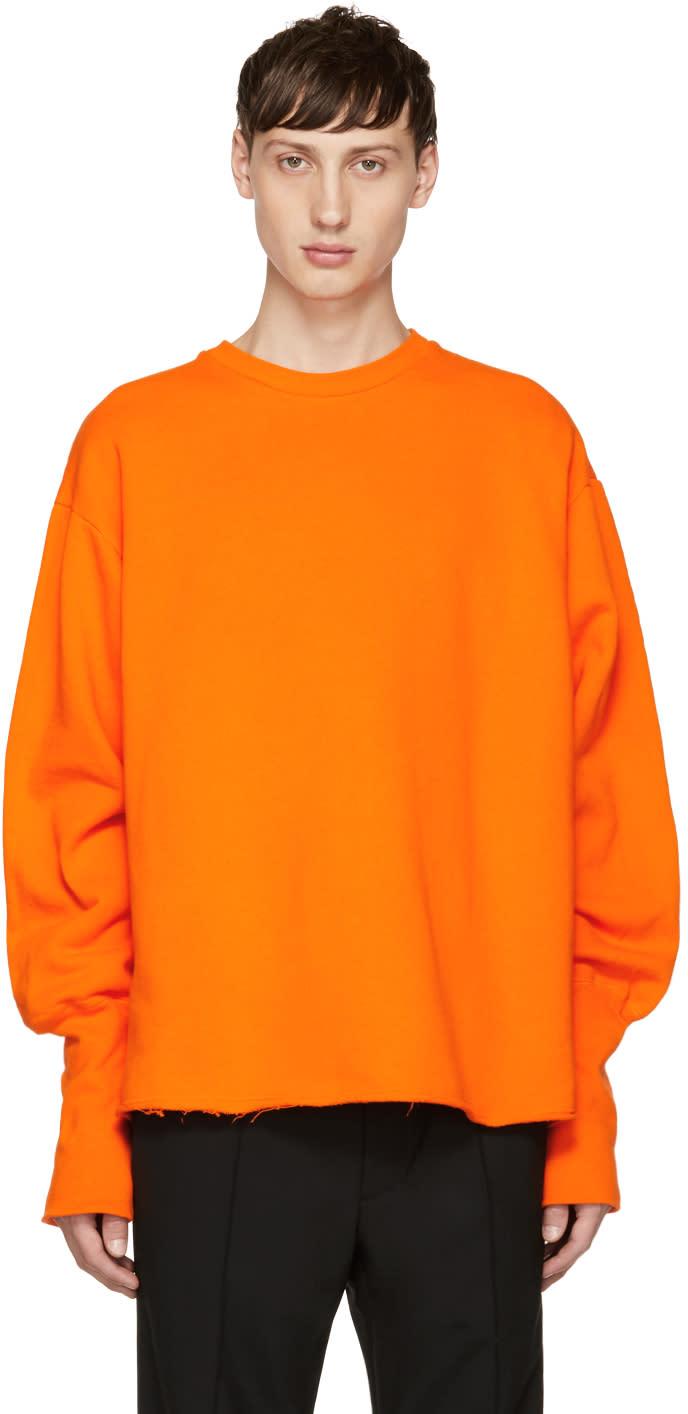 Image of Christian Dada Orange Oversized Bomber Sweatshirt