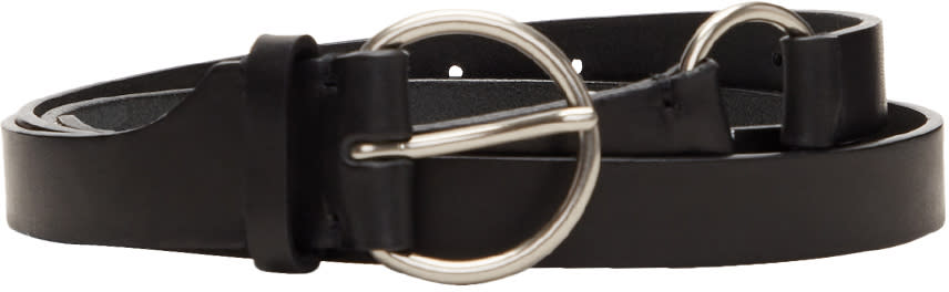 Image of Lad Musician Black Leather Long Belt
