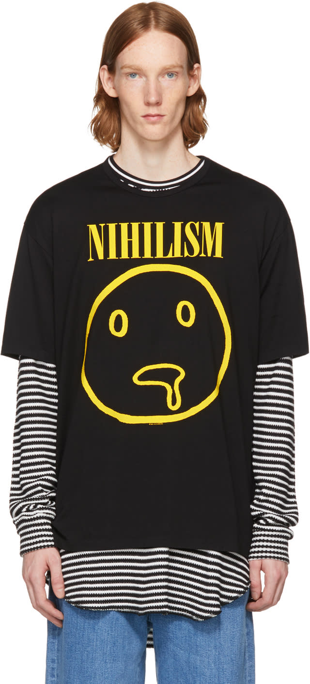 Image of Lad Musician Black Permanent Rocker nihilism T-shirt