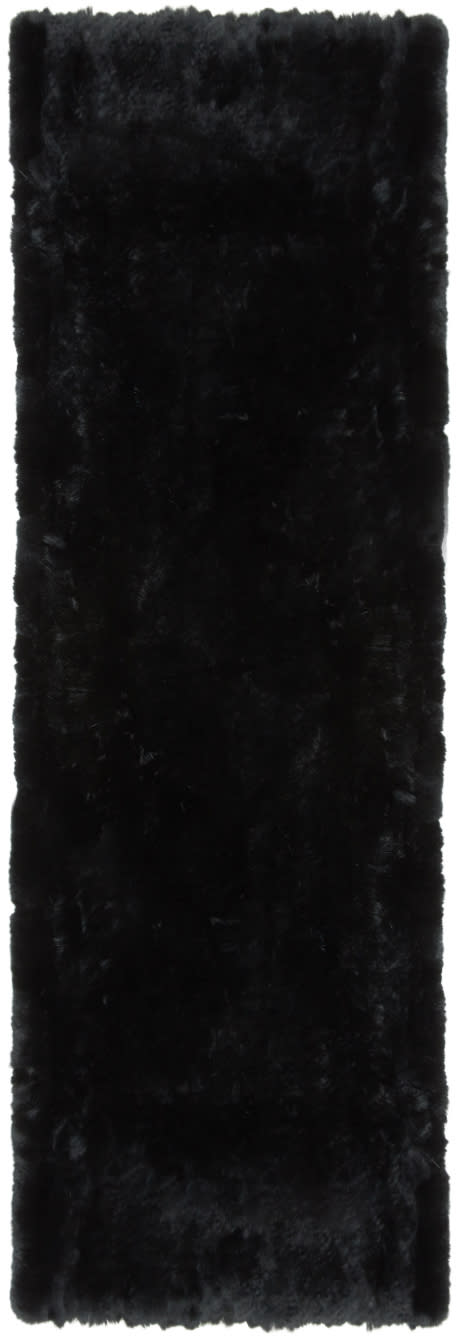 Image of Yves Salomon Black Fur Pocket Scarf
