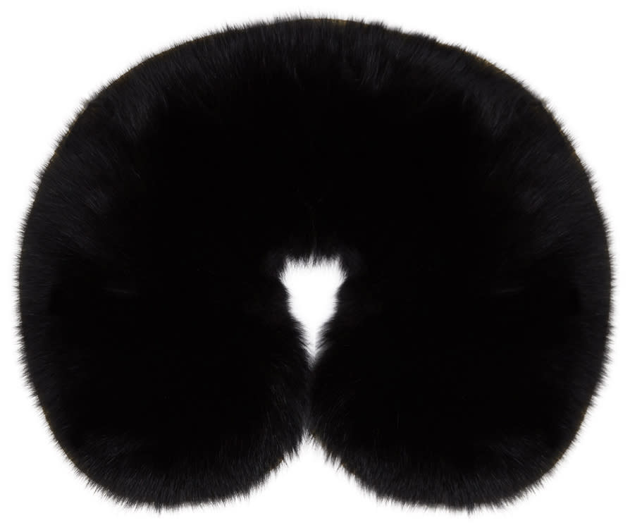 Image of Yves Salomon Black Fur Collar