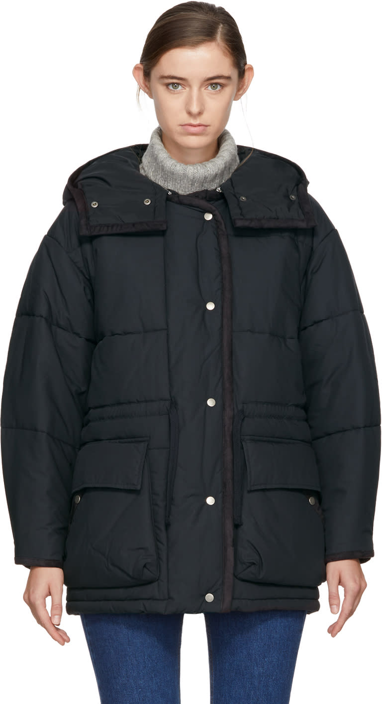 Image of Isabel Marant Etoile Black Quilted Bulle Jacket