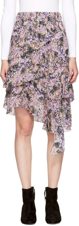 Isabel Marant Etoile Purple Jeezon Miniskirt