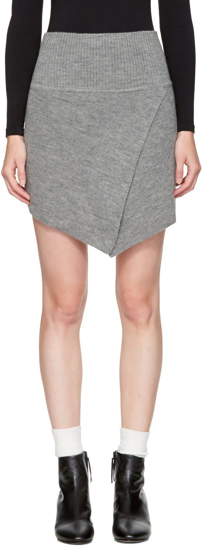 Isabel Marant Etoile Grey Blithe Miniskirt