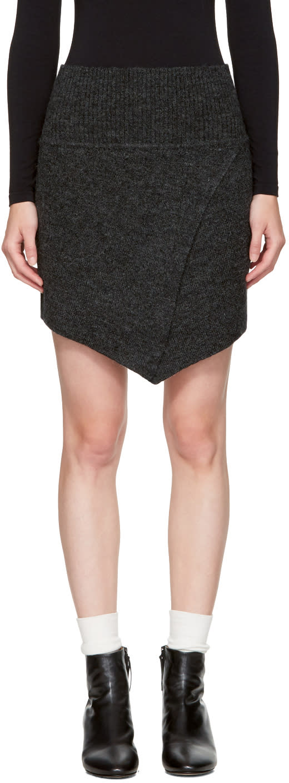 Image of Isabel Marant Etoile Black Blithe Miniskirt