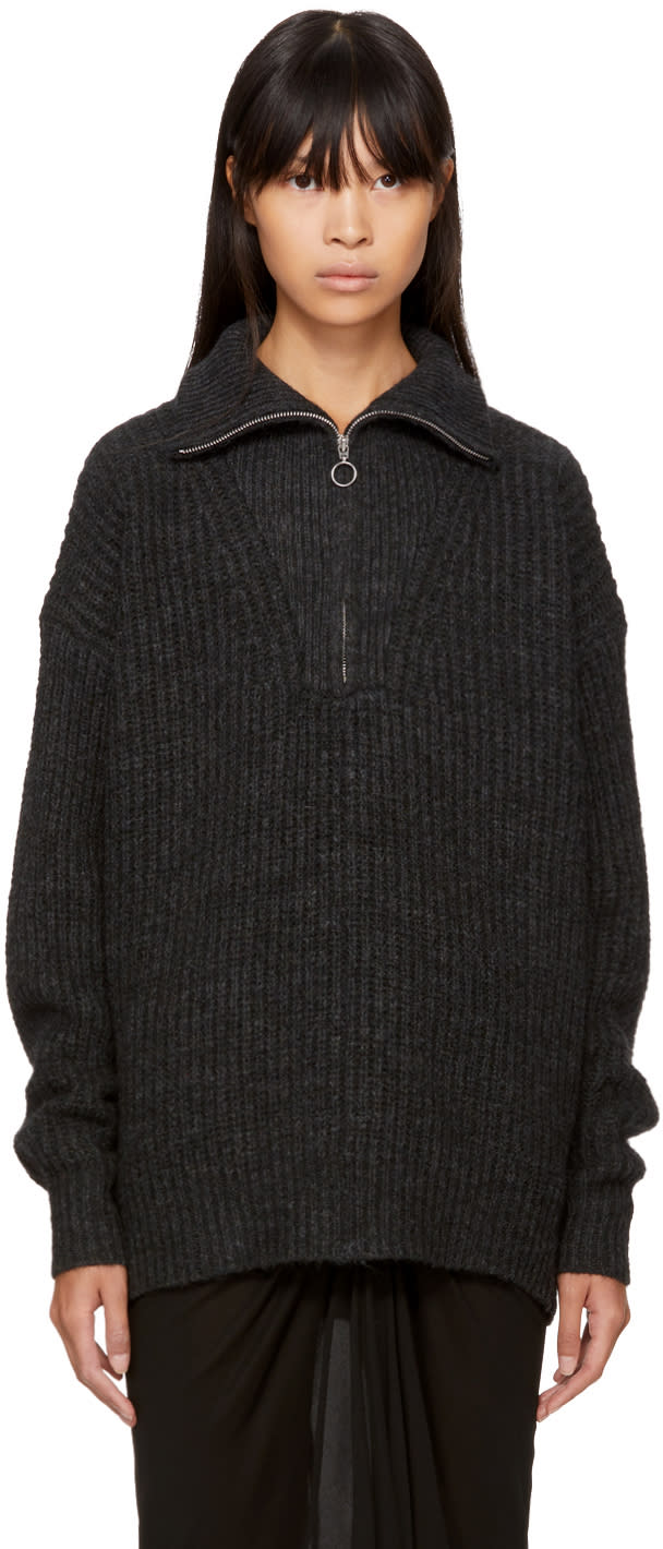 Image of Isabel Marant Etoile Black Declan Zip Sweater