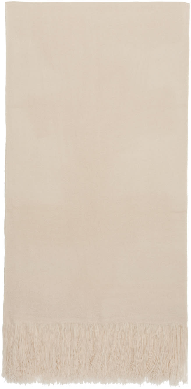 Image of Isabel Marant Beige Cashmere Carlyn Scarf