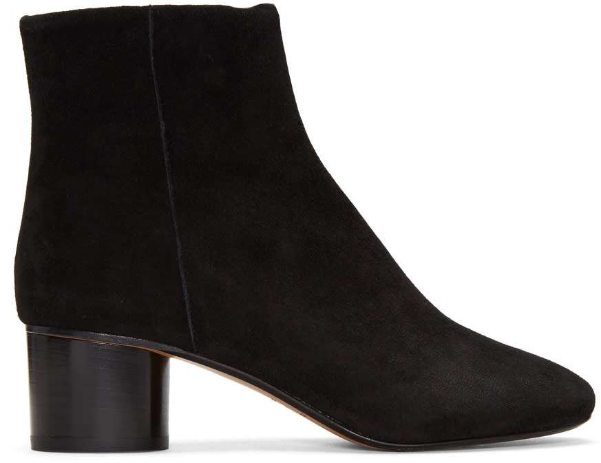 Isabel Marant Black Suede Danay Boots