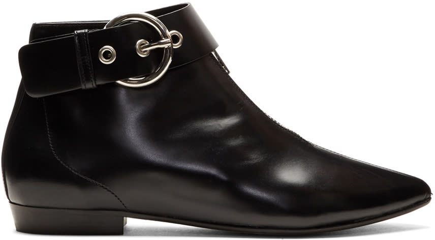 Isabel Marant Black Rilows Buckle Boots