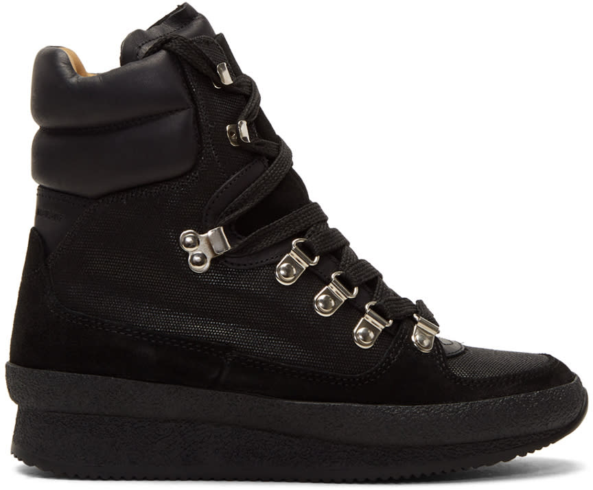 Isabel Marant Black Brendty Hiking Boots