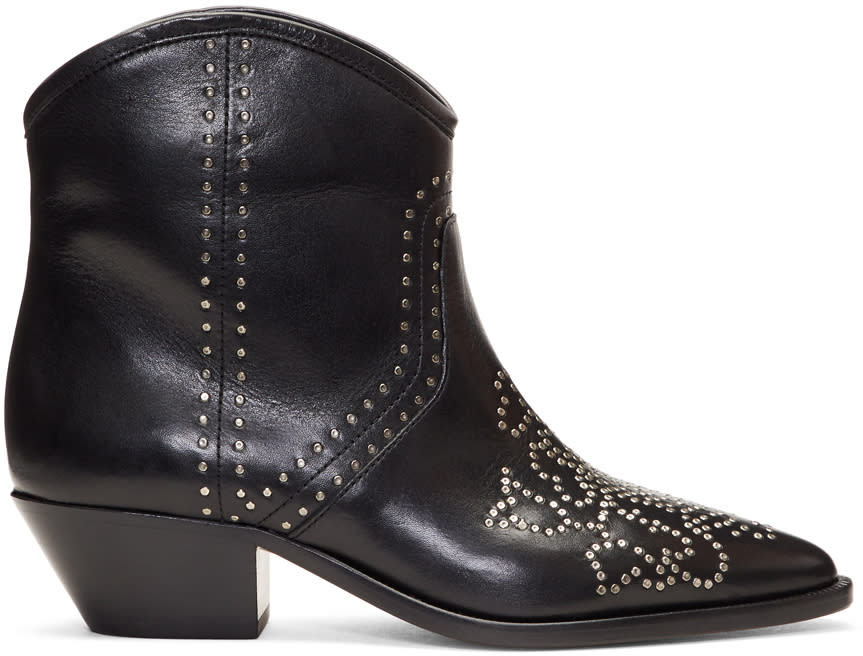 Isabel Marant Black Dollan Studded Boots