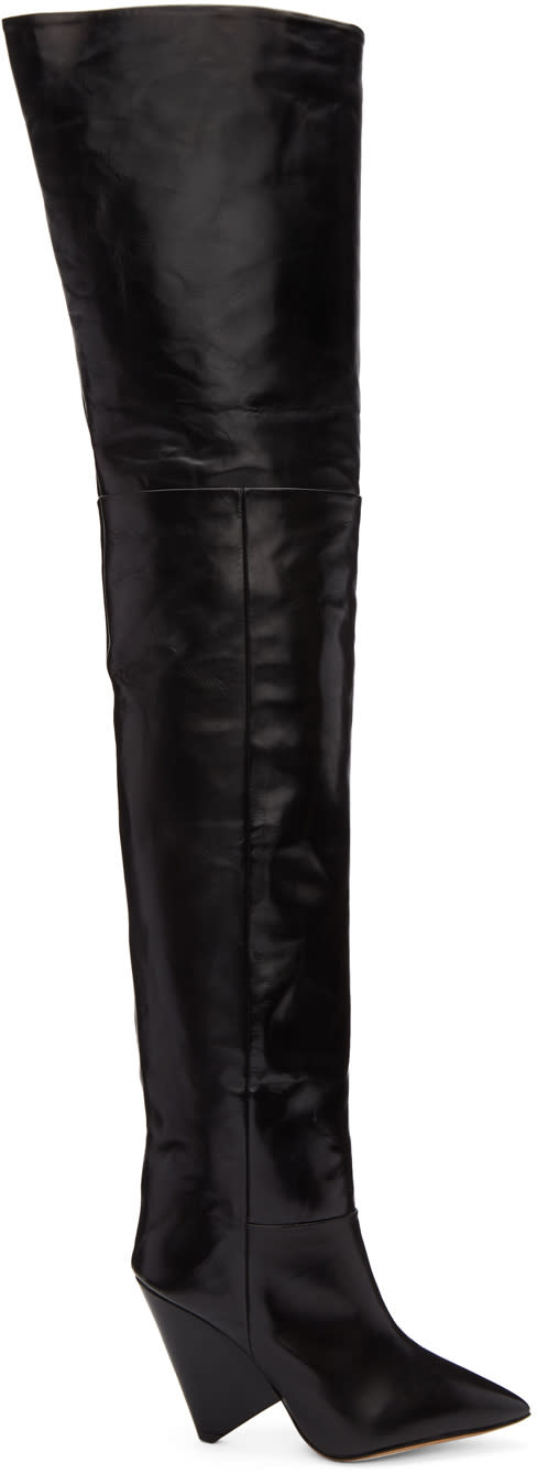 Isabel Marant Black Lostynn Over-the-knee Boots