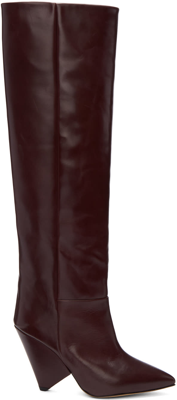 Isabel Marant Burgundy Lokyo Knee-high Boots