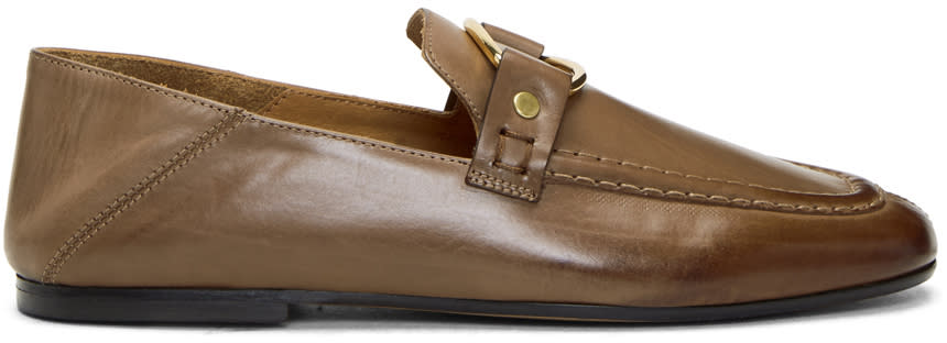 Image of Isabel Marant Beige Ferlyn Loafers