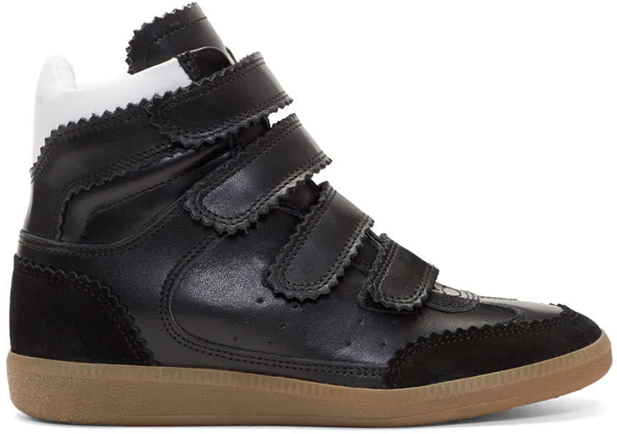 Image of Isabel Marant Black Bilsy New High Sneakers