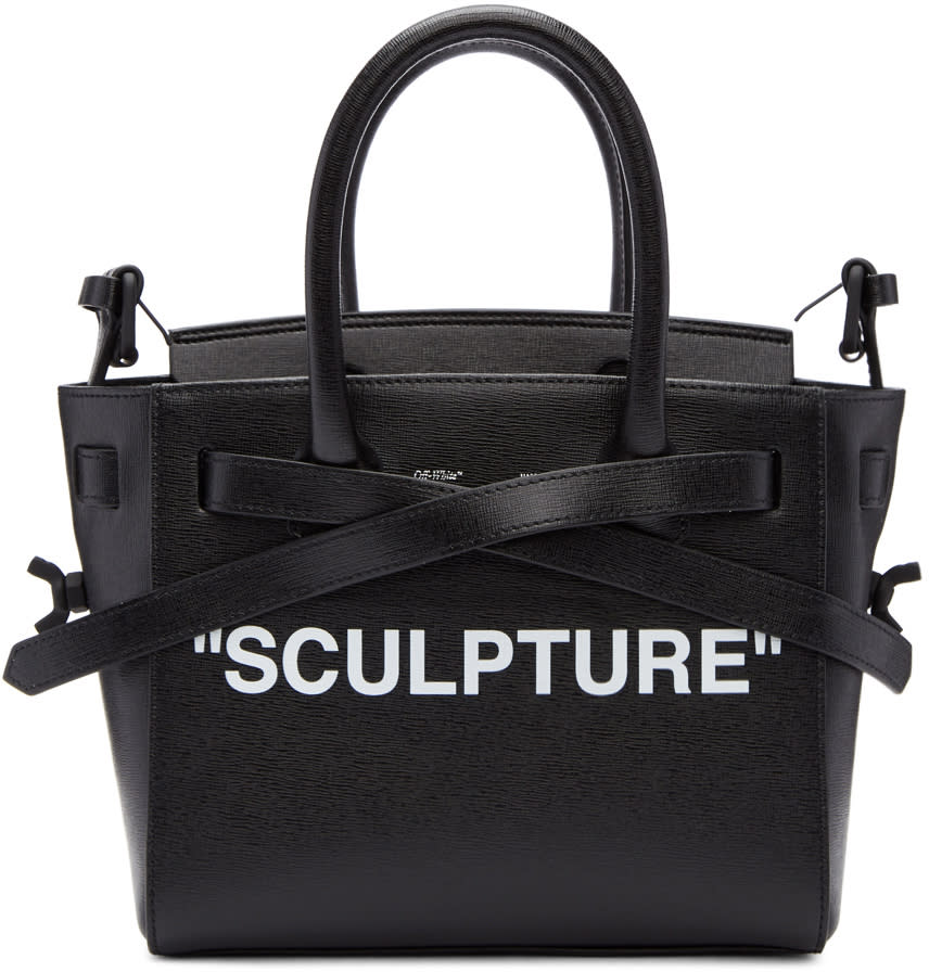 Image of Off-white Black and Red Mini sculpture Cut Flap Bag