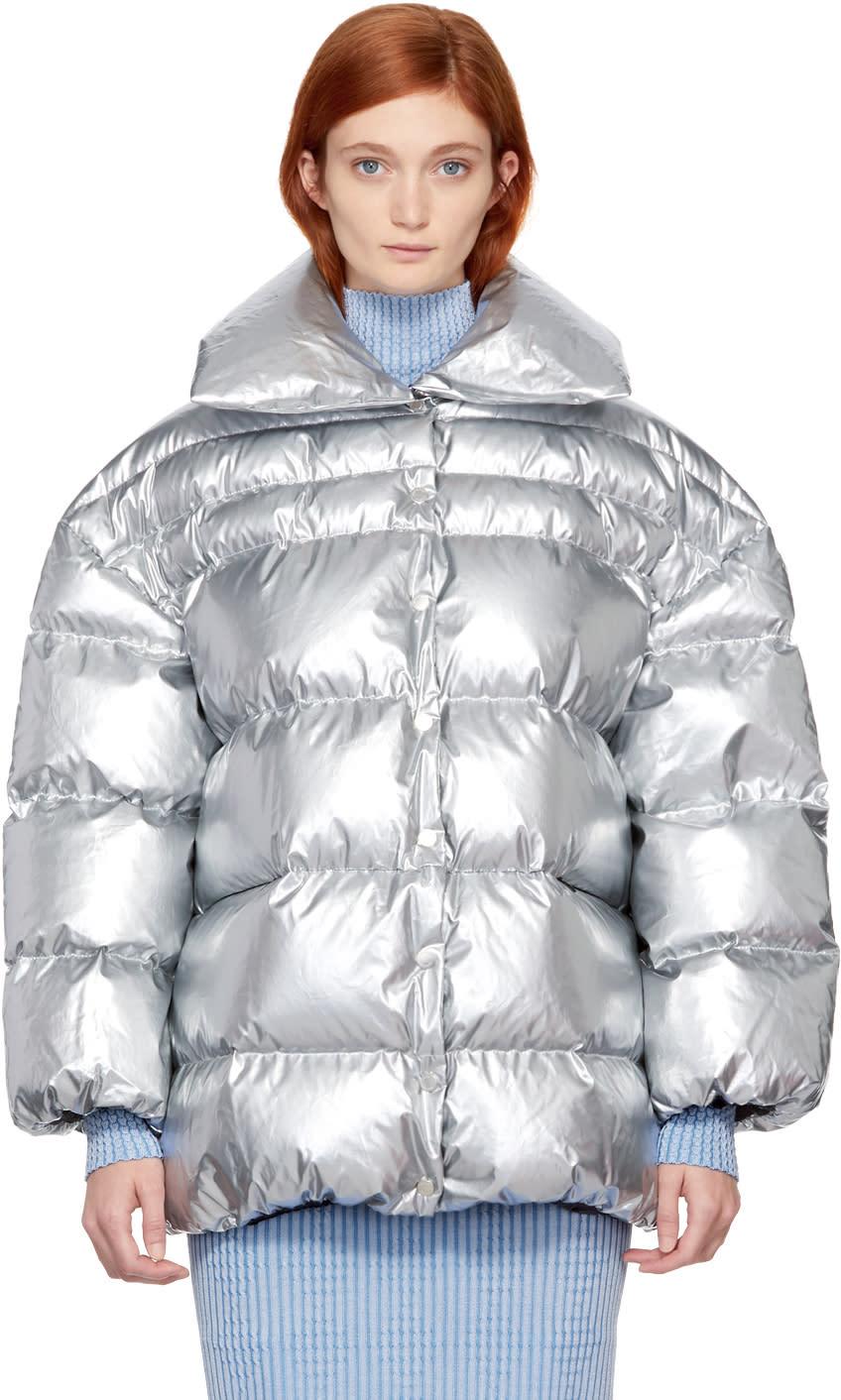 Off-white Silver Metallic Jacket