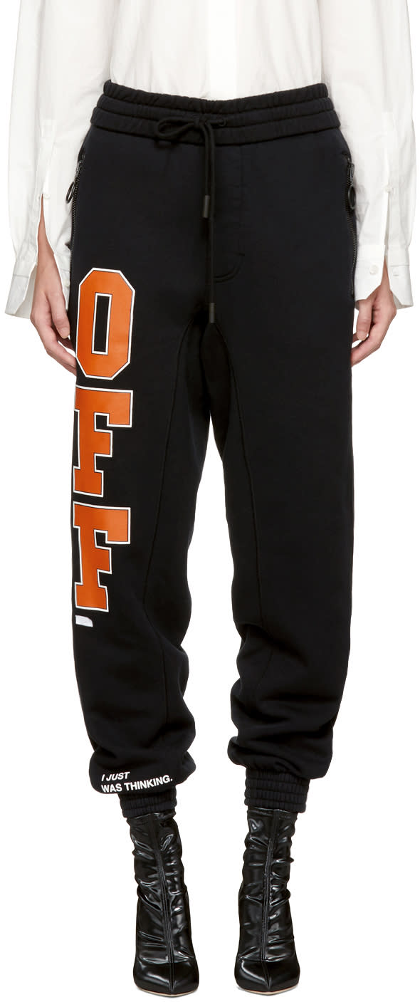 Off-white Pantalon De Survêtement Noir off
