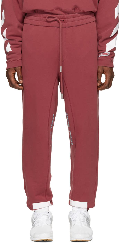 Off-white Red Diagonal Arrows Lounge Pants