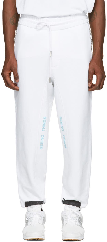 Off-white White Diagonal Brushed Lounge Pants