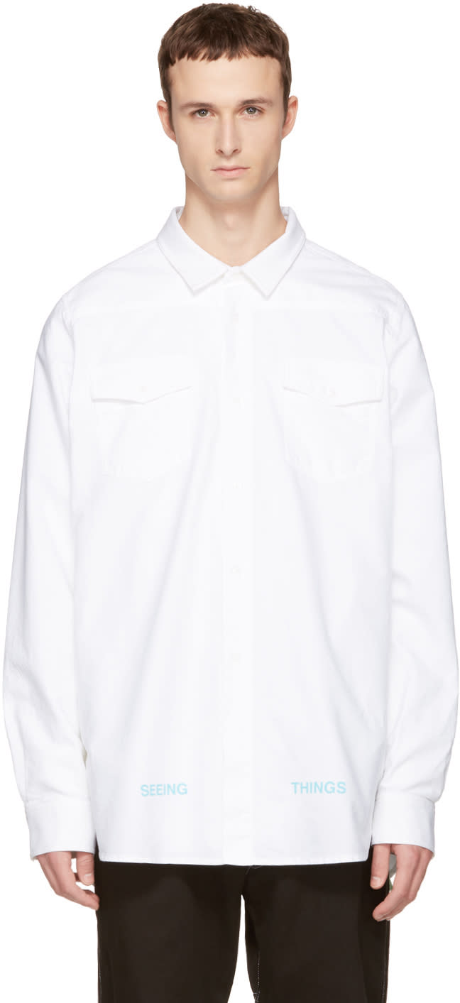 Off-white White Brushed Arrows Shirt