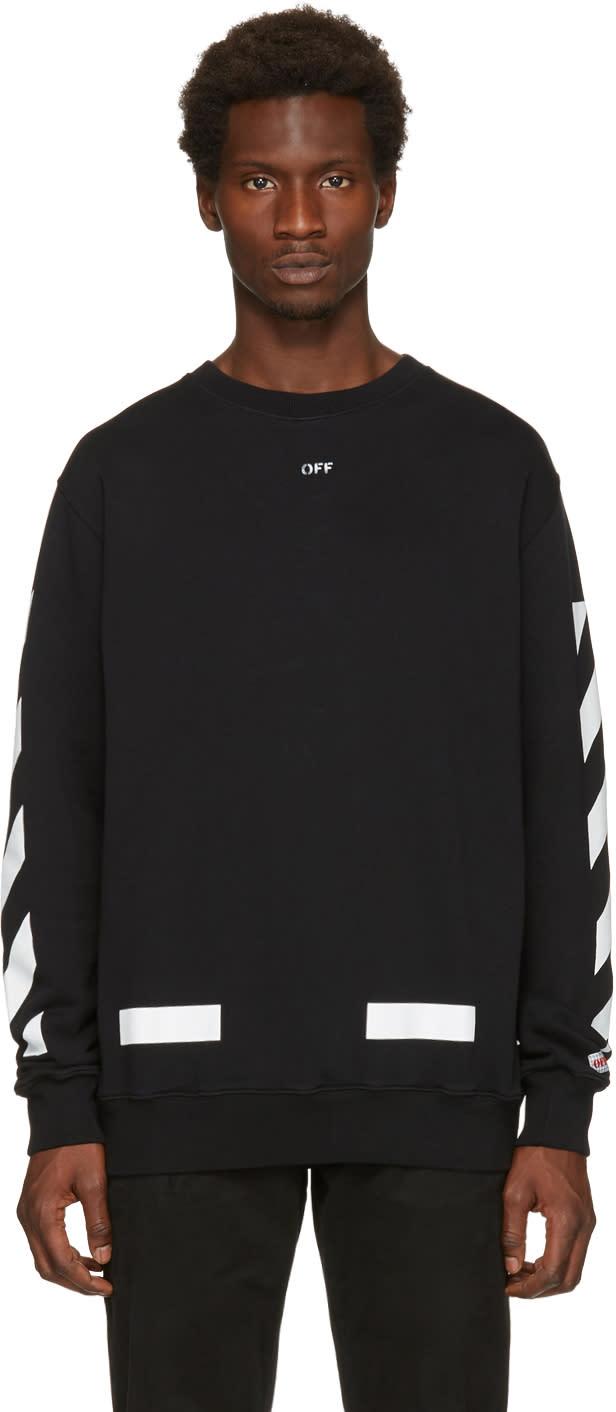 Off-white Black Diagonal Arrows Crewneck Sweatshirt