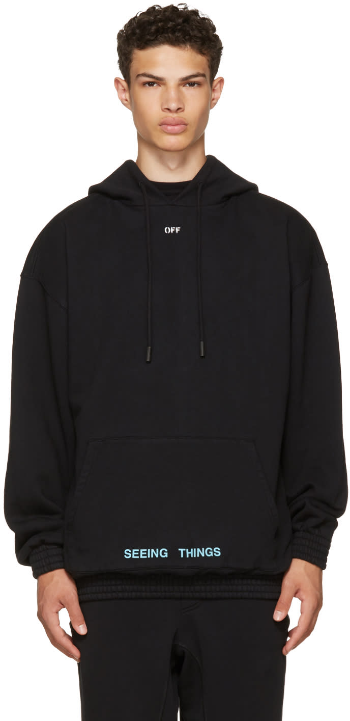 Image of Off-white Black 1991 Over Hoodie