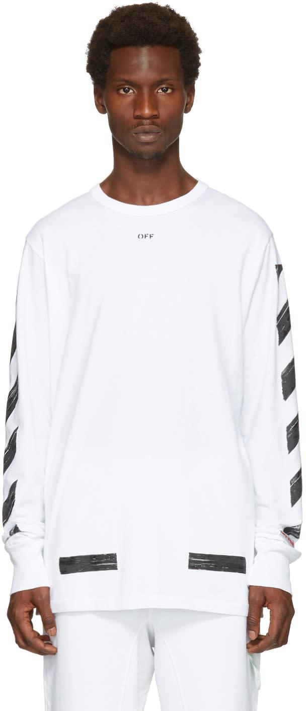 Off-white ホワイト ダイアゴナル ブラッシュ T シャツ