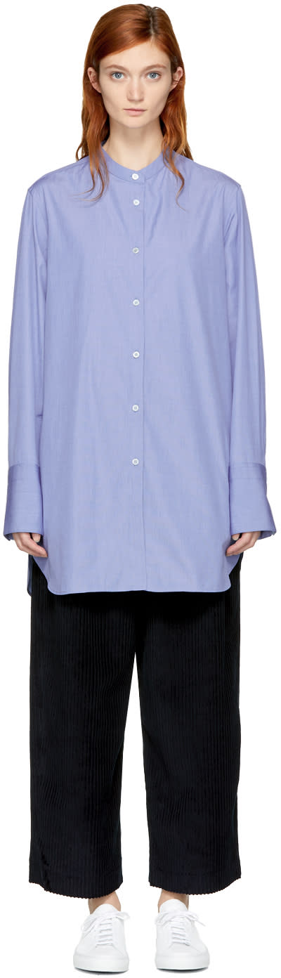 Image of Studio Nicholson Blue Chapo Shirt
