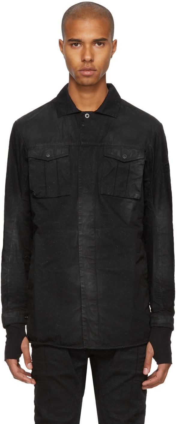 Image of 11 By Boris Bidjan Saberi Black Washed Army Shirt