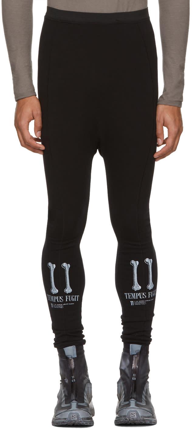 Image of 11 By Boris Bidjan Saberi Black tempus Fugit Track Pants